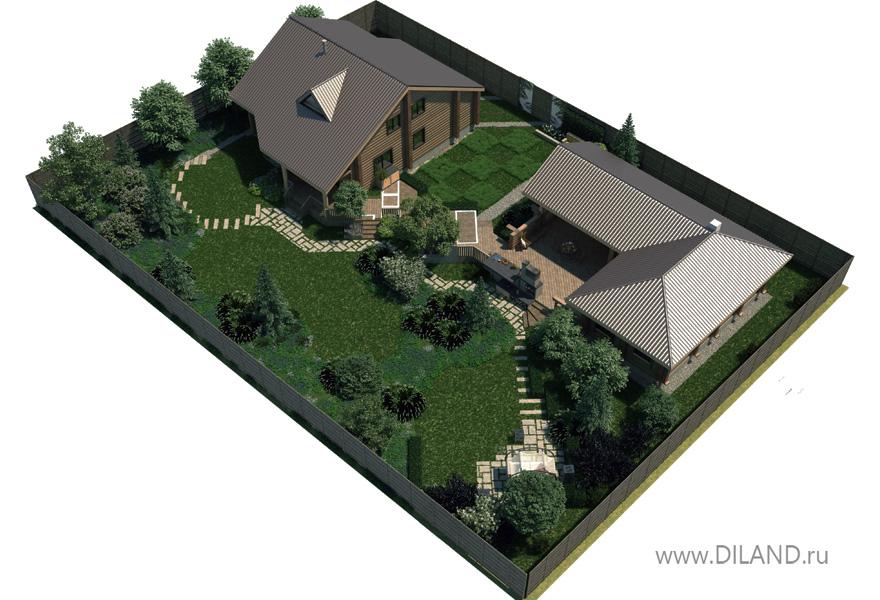 Планировка участка 15 соток с домом и баней гаражом фото новые